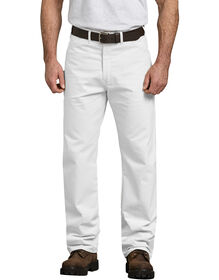 Relaxed Fit Straight Leg Cotton Painter's Pants - White (WH)