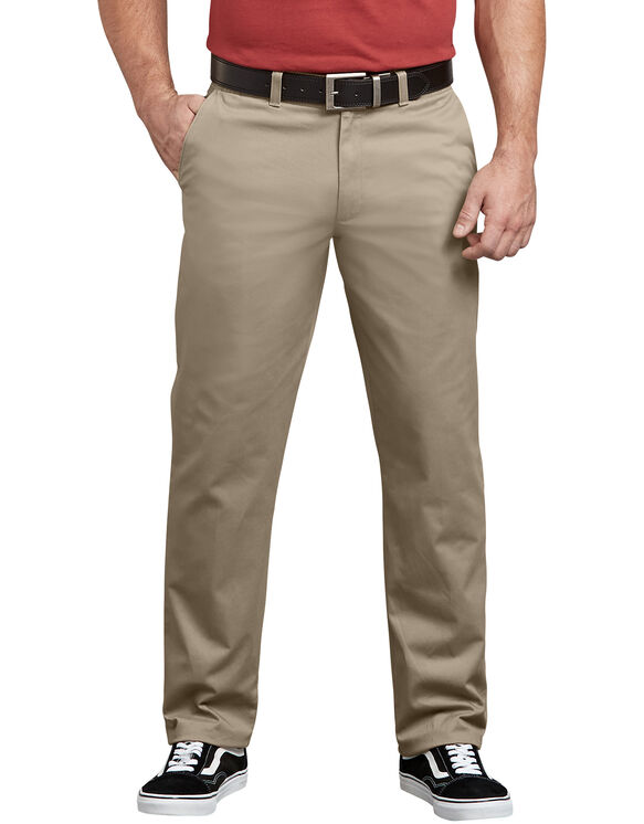 Dickies X-Series Active Waist Regular Tapered Fit Washed Chino Pants - Desert Khaki (RDS)