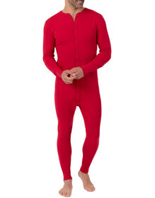 Men's Heavyweight Long Johns Union Suit - Red (RD)