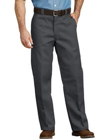 Loose Fit Double Knee Work Pants - Charcoal Gray (CH)