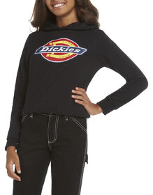 Dickies Girl Youth Cropped Logo Hoodie - Black (BLK)