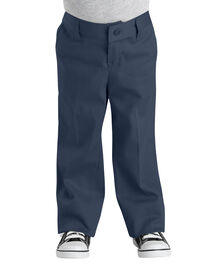 Girls' Classic Fit Straight Leg Stretch Twill Pants, 4-6 - Dark Navy (DN)