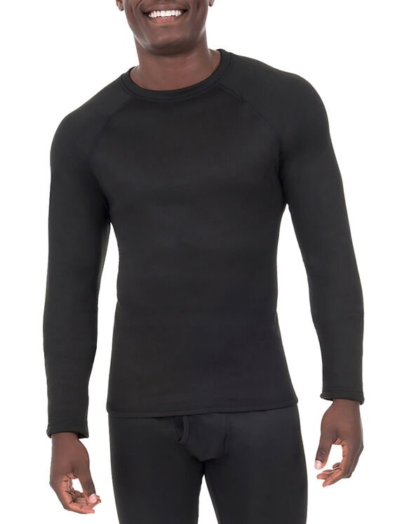 Men's Performance Long Johns Thermal Underwear Top - Black (BK)