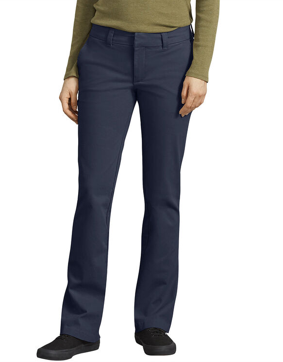 Women's Perfect Shape Bootcut Twill Pants - Navy Blue (RNV)