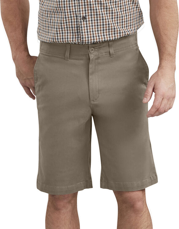 "Dickies X-Series 11"" Active Waist Washed Chino Shorts - Desert Khaki (RDS)"