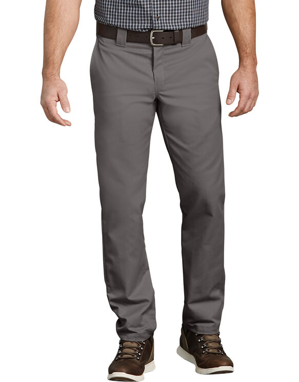 FLEX Slim Fit Taper Leg Multi-Use Pocket Work Pants - GRAVEL GRAY (VG)
