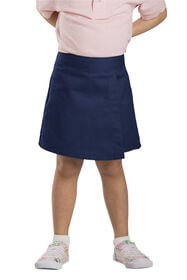 Girls' Faux Wrap Skort, 4-6 - Dark Navy (DN)