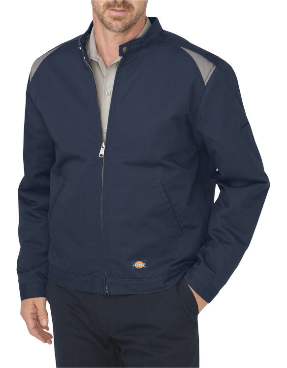 Industrial Insulated Color Block Shop Jacket - DARK NAVY/SILVER (DNSV)