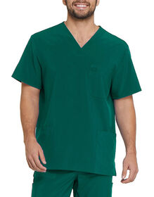 Men's EDS Essentials V-Neck Scrub Top - Hunter Green (HTR)