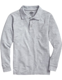 Kids' Long Sleeve Piqué Polo Shirt - Heather Gray (HG)