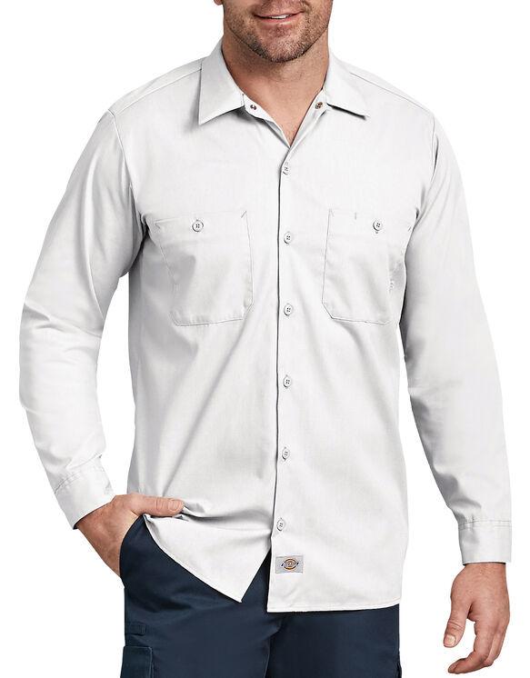 Long Sleeve Industrial Work Shirt - White (WH)