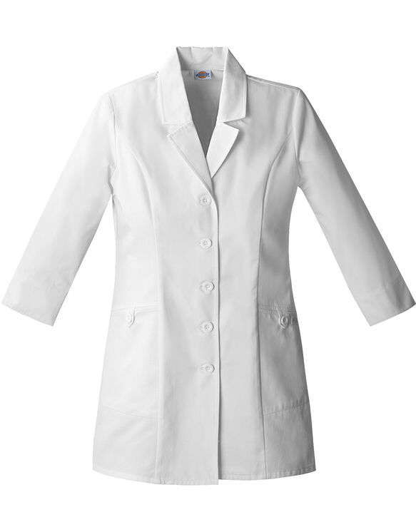 "Women's EDS Signature 3/4 Sleeve 31"" Lab Coat - White (DWH)"