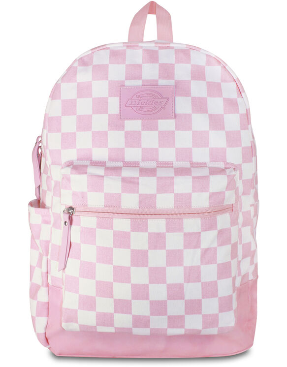Pink/White Checkered Colton Backpack - CHECK PINK/WHITE (CKW)