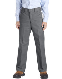 Boys' Slim Fit Straight Leg Pants, 8-20 - Charcoal Gray (CH)