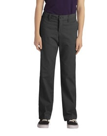 Girls' FlexWaist® Classic Fit Straight Leg Stretch Twill Pants, Plus, 10.5-20.5 - Black (BK)