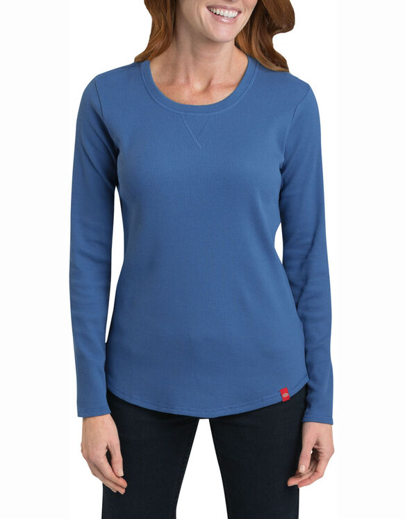 Women's Long Sleeve Thermal T-Shirt - FRENCH BLUE (FB)