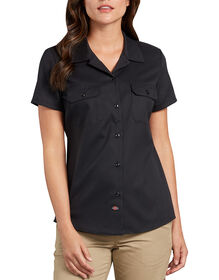 Women's Flex Short Sleeve Work Shirt - Black (BK)