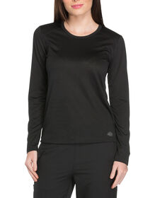 Women's Dynamix Long Sleeve Underscrub Knit T-Shirt - Black (BLK)