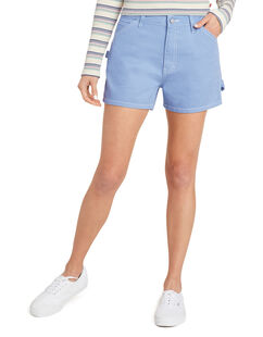 Dickies Girl Juniors' High-Rise Carpenter Shorts - CHAMBRAY LIGHT BLUE (CLB)