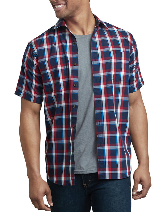 Icon Relaxed Fit Yarn Dyed Shirt - Red Blue Plaid (RWBE)