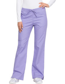 Women's Modern Classic EDS Signature Drawstring Cargo Scrub Pants - Lavender Freesia (LAF)