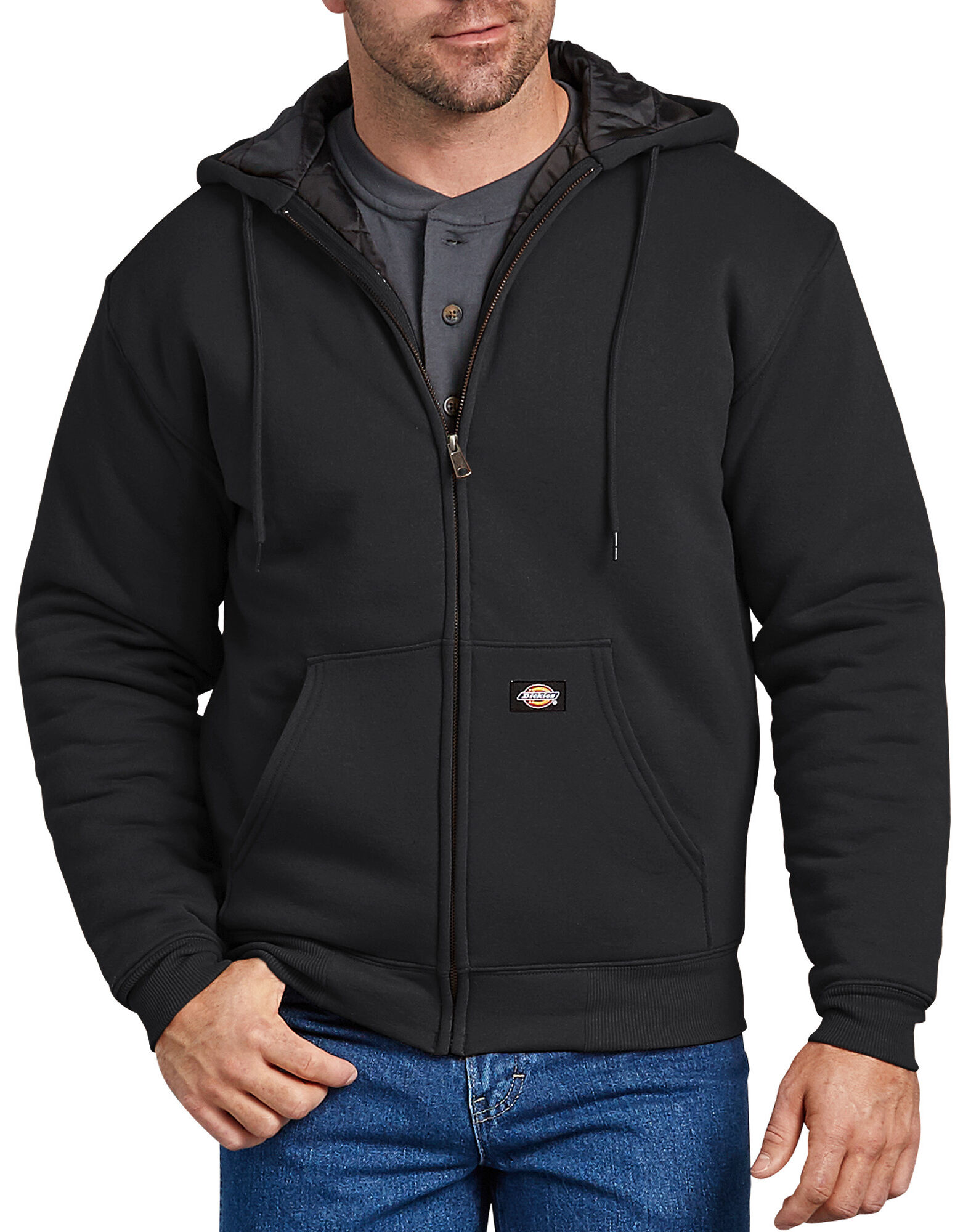 23ab1275e4a Heavyweight Quilted Fleece Hoodie - Black ...