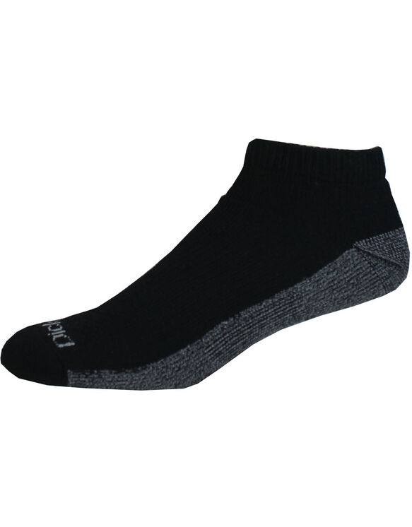 Dri-Tech No Show Socks, 6-Pack, Size 6-12 - Black (BK)