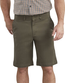"Dickies X-Series FLEX 11"" Active Waist Washed Chino Shorts - Moss Green (RMS)"