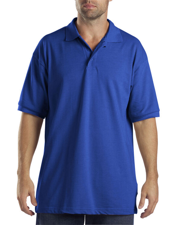 Adult Sized Short Sleeve Pique Polo Shirt - Royal Blue (RB)
