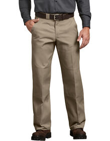 Relaxed Fit Straight Leg Double Knee Pants - DESERT SAND (DS)