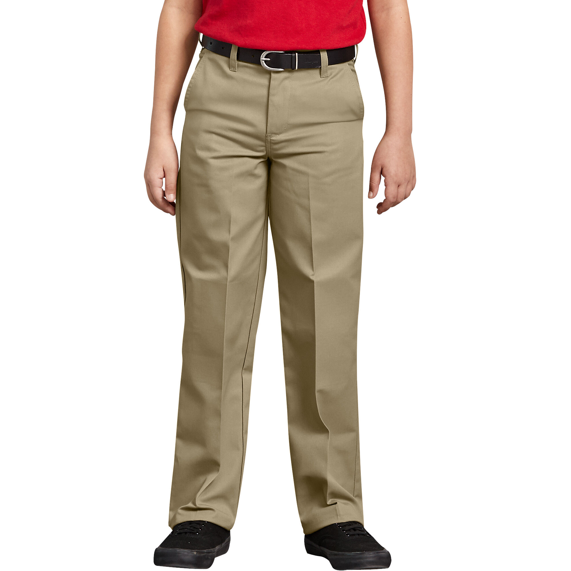 Dickies Boys Khaki Pants Flat Front Classic Fit School Uniform Sizes 4 to 20