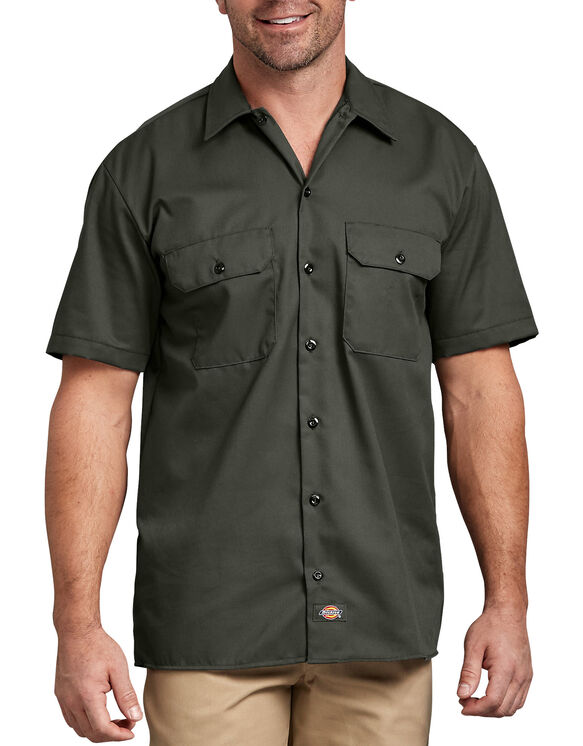 Short Sleeve Work Shirt - Olive Green (OG)