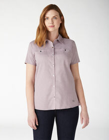 Women's Cooling Temp-iQ® Short Sleeve Work Shirt - Lilac Heather (ICH)