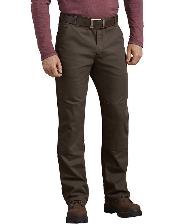 FLEX Regular Fit Tough Max™ Duck Double Knee Pants - Stonewashed Timber Brown (STB)