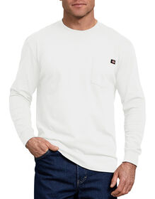 Long Sleeve Heavyweight Crew Neck T-Shirt - White (WH)