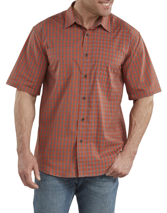 FLEX Icon Relaxed Fit Short Sleeve Shirt - Red Clay Plaid (RRCC)