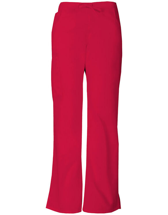 Women's EDS Signature Moderate Flare Leg Cargo Scrub Pants - Red (RD)