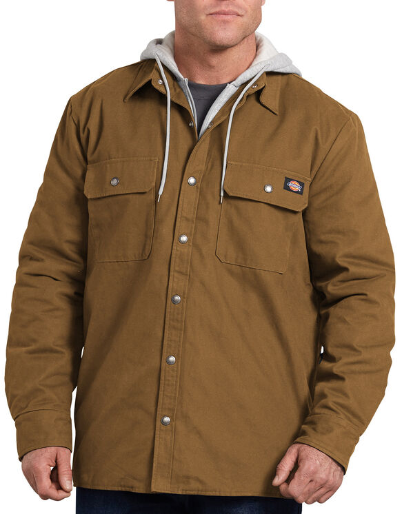 Relaxed Fit Icon Hooded Duck Quilted Shirt Jacket - Brown Duck (BD)
