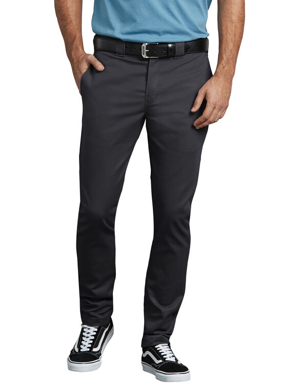 FLEX Slim Skinny Fit Twill Work Pants - Black (BK)