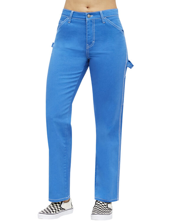 Dickies Girl Juniors' Relaxed Fit Carpenter Pants - Electric Blue (EB)