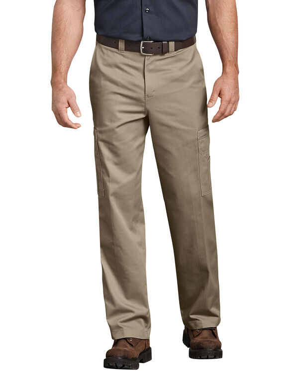 Industrial Relaxed Fit Cotton Cargo Pants - Desert Khaki (DS)