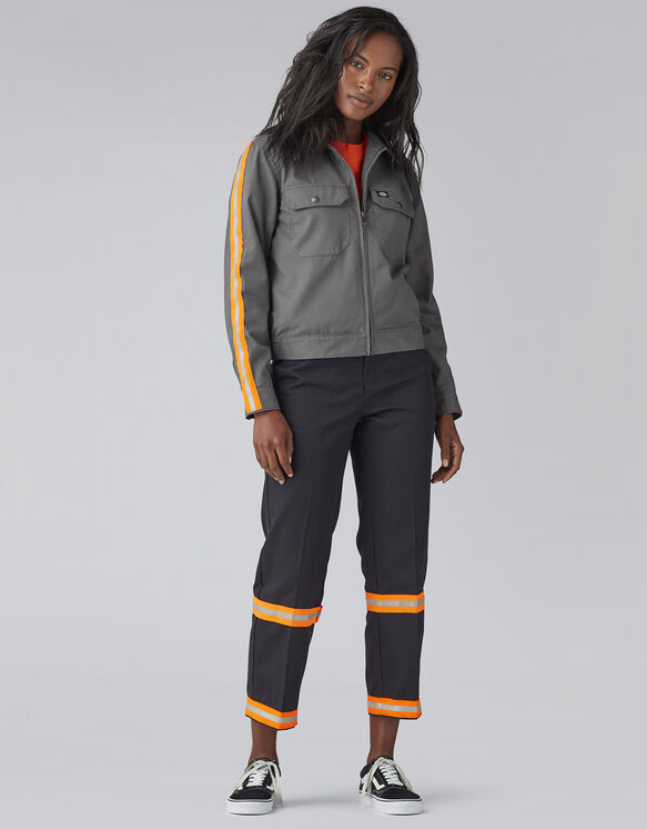 Women's Reflective Military Jacket - Gravel Gray (VG)