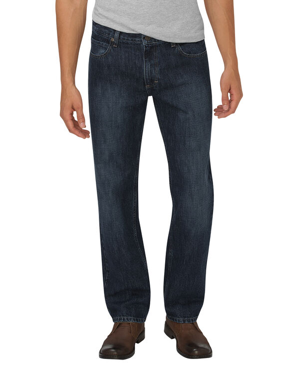 Dickies X-Series Relaxed Fit Straight Leg 5-Pocket Denim Jeans - Dark Indigo Blue (HDI)
