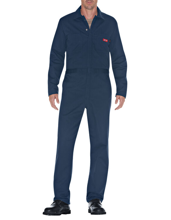 Flame-Resistant Long Sleeve Coveralls - NAVY (NV)