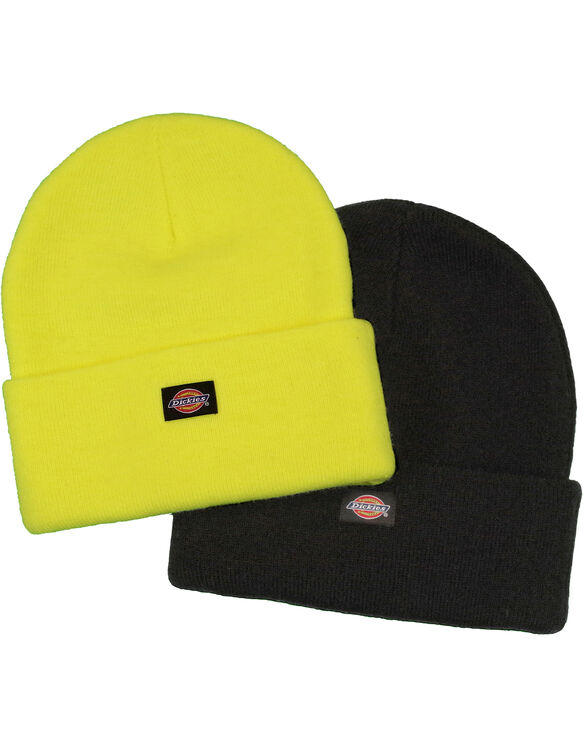 Two Pack Beanie - Bright Yellow (BWD)