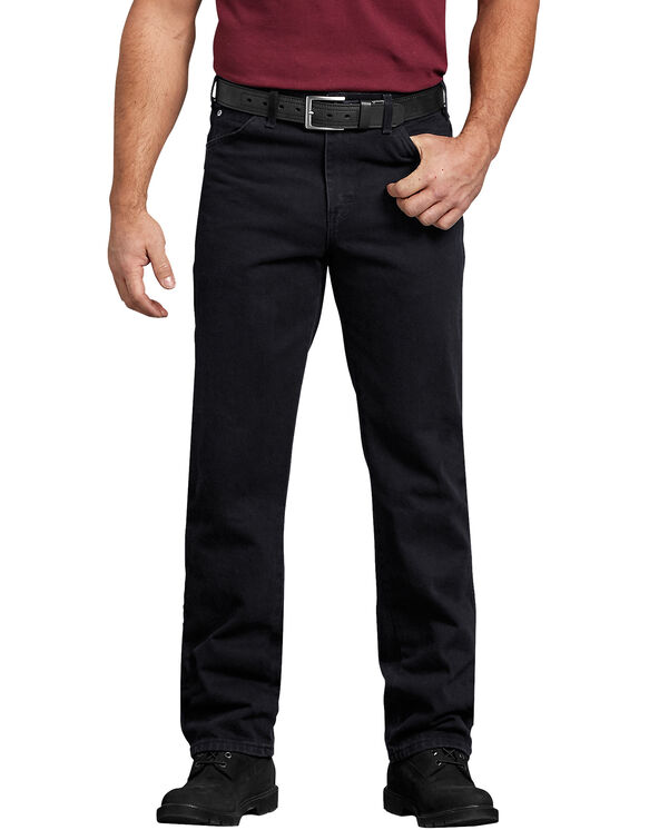 Regular Straight Fit 5-Pocket Denim Jeans - Blackest Black (RBB)