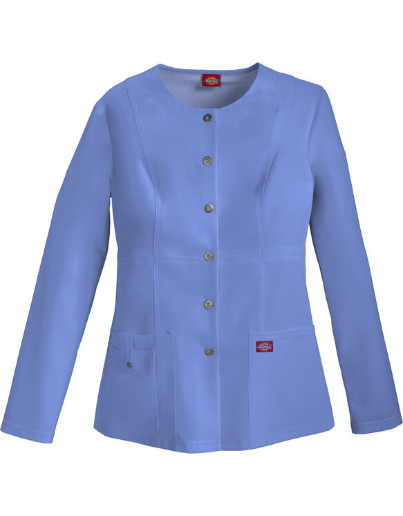 Women's Xtreme Stretch Snap Front Warm-Up Jacket - Ceil Blue (CBL)