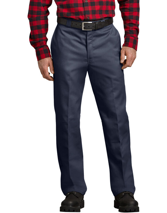 Relaxed Fit Flannel Lined Work Pants - NAVY (NV)