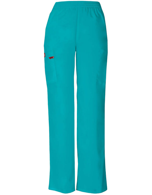 Women's EDS Signature Tapered Leg Cargo Scrub Pants - Teal (DTL)