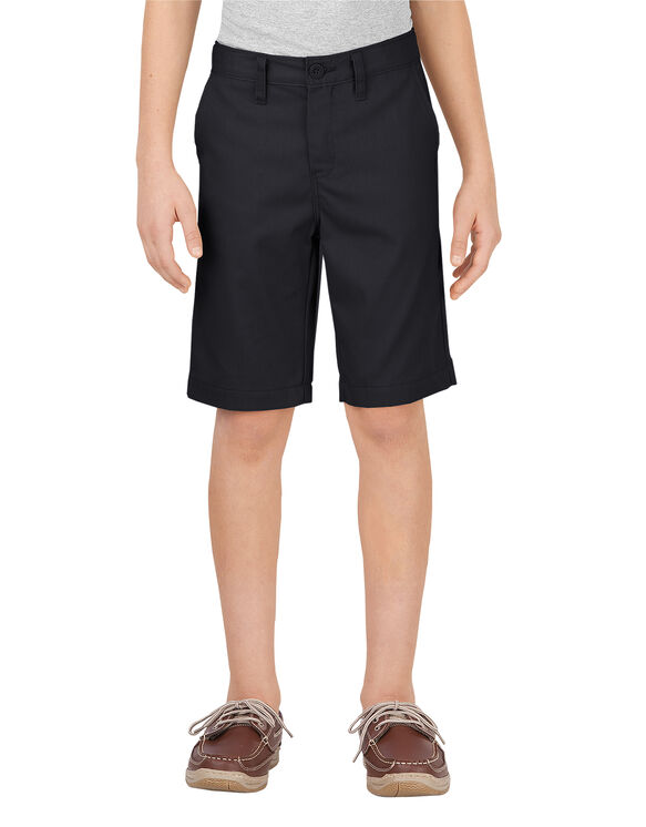 Boys' Flex Slim Fit Ultimate Khaki Shorts, 8-20 - Black (BK)